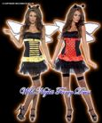 FANCY DRESS # REVERSIBLE BUMBLE BEE / LADY BUG M 12-14